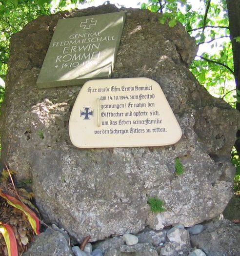 Gedenkstein für Erwin Rommel