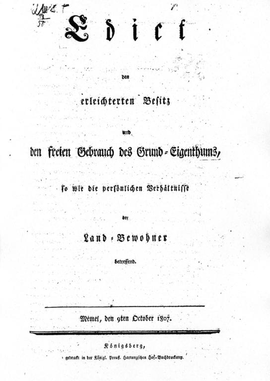 Titelblatt des Oktoberedikts