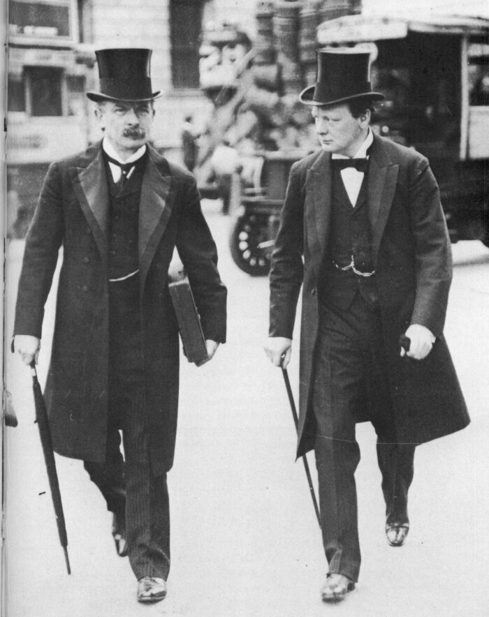 David Lloyd George und Winston Churchill